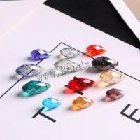 Mode Glasperlen, Glas, Tropfen, plattiert, DIY & verschiedene Größen vorhanden & facettierte, keine, 10PCs/Tasche, verkauft von Tasche