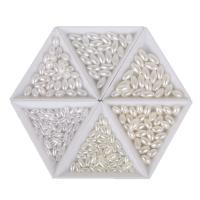 ABS-Kunststoff-Perlen, ABS Kunststoff, plattiert, DIY & verschiedene Größen vorhanden & Nachahmung Perle, keine, verkauft von Tasche