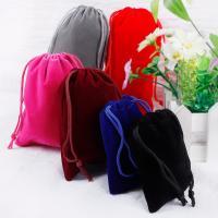 Schmuck Kordelzugbeutel, Baumwollsamt, DIY & verschiedene Größen vorhanden, keine, 10PCs/Tasche, verkauft von Tasche