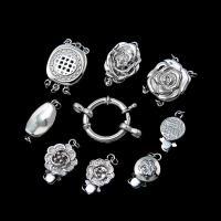 925 Sterling Silber Schnappschließe, 925er Sterling Silber, DIY & verschiedene Stile für Wahl & mit Strass, originale Farbe, verkauft von PC