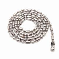 Eisen Halsketten, Kugelkette, originale Farbe, frei von Nickel, Blei & Kadmium, 2.40mm, verkauft per ca. 23.6 ZollInch Strang