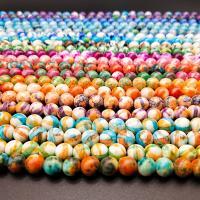 Regen Blumen Stein Perlen, rund, verschiedene Größen vorhanden, keine, verkauft von Strang