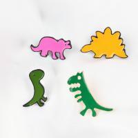 Zinklegierung Broschen, Dinosaurier, plattiert, verschiedene Stile für Wahl & für Frau & Emaille, keine, 23x13mm,20x19mm,22x25mm,27x18mm, 10PCs/Menge, verkauft von Menge