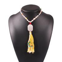 Mode-Fringe-Halskette, Terylen Schnur, mit Seedbead, für Frau, keine, 128x25mm, verkauft per 14.9 ZollInch Strang