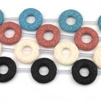 Natürliche Lava Perlen, Kreisring, keine, frei von Nickel, Blei & Kadmium, 34x34mm, 8PCs/Tasche, verkauft von Tasche