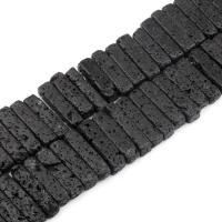 Natürliche Lava Perlen, schwarz, frei von Nickel, Blei & Kadmium, 30x9mm, 50PCs/Strang, verkauft von Strang