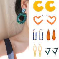 Harz Ohrring, mit Zinklegierung, verschiedene Stile für Wahl & für Frau, keine, verkauft von Paar