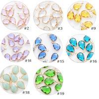 Kristall Anhänger, Tropfen, goldfarben plattiert, DIY & facettierte, mehrere Farben vorhanden, 10x14mm, 10PCs/Tasche, verkauft von Tasche