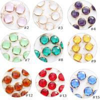 Kristall Schmuckverbinder, halbrund, goldfarben plattiert, DIY & facettierte, mehrere Farben vorhanden, 16mm, 10PCs/Tasche, verkauft von Tasche