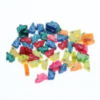 Polymer Ton Perlen , Fisch, farbenfroh, frei von Nickel, Blei & Kadmium, 8x4x14mm, 1000PCs/Tasche, verkauft von Tasche