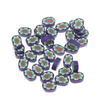 Polymer Ton Perlen , violett, frei von Nickel, Blei & Kadmium, 12.50x6x18mm, 1000/Tasche, verkauft von Tasche
