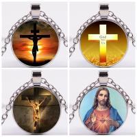 Zinklegierung Kreuz Anhänger, plattiert, unisex & verschiedene Stile für Wahl, frei von Nickel, Blei & Kadmium, 25mm, verkauft von PC
