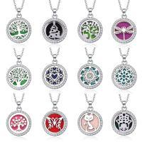 Parfüm Medaillon Halskette, Zinklegierung, plattiert, verschiedene Stile für Wahl & für Frau, keine, frei von Nickel, Blei & Kadmium, 625x22mm, verkauft von Strang