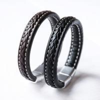 Rindsleder Armband, Kunstleder, plattiert, für den Menschen, keine, frei von Nickel, Blei & Kadmium, 13mm, verkauft per ca. 8.1 ZollInch Strang