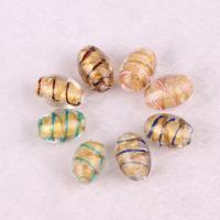 Goldsand Lampwork Perlen, DIY, keine, 11x16mm, verkauft von PC