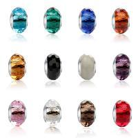 Handgewickelte Perlen, Lampwork, plattiert, DIY, keine, 13.50x9.01mm, Bohrung:ca. 4.57mm, verkauft von PC