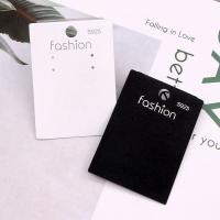 Anzeigenkarte, PVC Kunststoff, plattiert, keine, 50x70mm, 100PCs/Tasche, verkauft von Tasche
