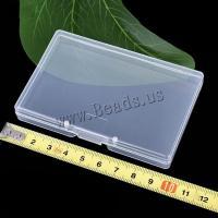 Schmuck Nagelkasten, Polypropylen, Rechteck, transparent, 95x63x14mm, 10PCs/Menge, verkauft von Menge