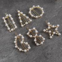 Haarspange, Zinklegierung, mit Kunststoff Perlen, Blume, für Kinder, keine, verkauft von PC