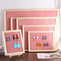 Baumwollsamt Ohrringständer, Holz, mit Baumwollsamt, Rechteck, verschiedene Größen vorhanden, keine, verkauft von PC