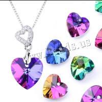 Herz Kristallperlen, Kristall, plattiert, DIY & verschiedene Stile für Wahl, mehrere Farben vorhanden, 14mm, verkauft von PC