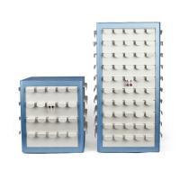 Leder Ohrringständer, PU Leder, mehrschichtig & drehbare & verschiedene Größen vorhanden, blau, verkauft von PC