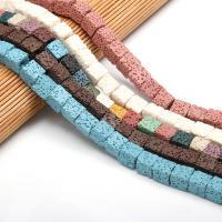 Natürliche Lava Perlen, DIY, keine, 9x9mm, 43PCs/Strang, verkauft von Strang