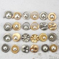 Zinklegierung Knopf, Legierung, rund, verschiedene Größen vorhanden & verschiedene Stile für Wahl, keine, verkauft von PC