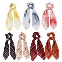 Draht Bun -Bogen, Stoff, Kunstdruck, elastisch & verschiedene Muster für Wahl & für Frau, keine, 90mm, verkauft von PC