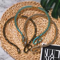 Kragen Halskette, Zinklegierung, Schlange, plattiert, für Frau & mit Strass, keine, frei von Nickel, Blei & Kadmium, verkauft von PC