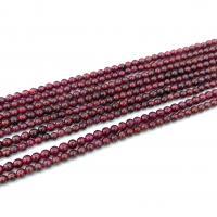 Natürlicher Granat Perlen, DIY, 3.5mm-4.5mm, verkauft von Strang