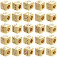 Messing Großes Loch Perlen, Quadrat, plattiert, DIY & Micro pave Zirkonia, 8x8mm, Bohrung:ca. 4mm, 10PCs/Menge, verkauft von Menge