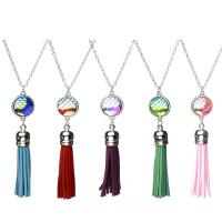 Mode-Fringe-Halskette, Zinklegierung, plattiert, verschiedene Stile für Wahl & für Frau, keine, frei von Nickel, Blei & Kadmium, 500mm, verkauft von Strang