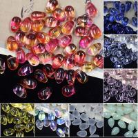 KRISTALLanhänger, Kristall, Tropfen, DIY, mehrere Farben vorhanden, 6x9mm, 50PCs/Tasche, verkauft von Tasche