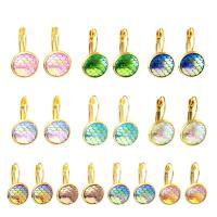 Edelstahl-Hebel zurück-Ohrring, Edelstahl, plattiert, für Frau, keine, 12mm, verkauft von Tasche