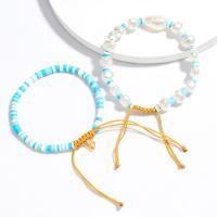 Art- und Weisearmband-Ring, Nylon Polypropylen, mit Kunststoff Perlen, für Frau, keine, verkauft von Strang