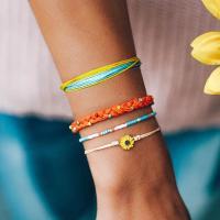 Mode Wachsschnur Armbänder, Armband, mit Zinklegierung, für Frau, keine, 17-30cm, verkauft von setzen