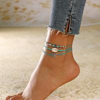 Zinklegierung Mode Schmuckset, Fußkette, mit Muschel, plattiert, für Frau, frei von Nickel, Blei & Kadmium, verkauft von setzen