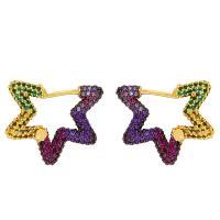 Messing Leverback Ohrring, verschiedene Stile für Wahl & Micro pave Zirkonia & für Frau, keine, 21x18mm,15x15mm, verkauft von Paar
