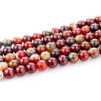 Regenbogen Jaspis Perle, rund, poliert, DIY & verschiedene Größen vorhanden, regenbogenfarben, Länge:ca. 15.4 ZollInch, 2SträngeStrang/Tasche, verkauft von Tasche