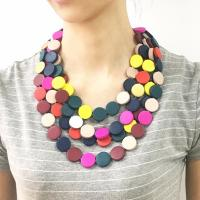 Mode Statement Halskette, Zinklegierung, plattiert, für Frau, keine, frei von Nickel, Blei & Kadmium, verkauft von Strang