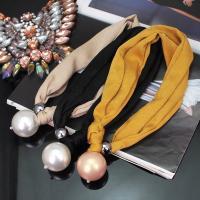 Plastik-Perlenkette, Stoff, mit Kunststoff Perlen, für Frau, keine, verkauft von Strang
