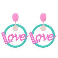 Acryl Tropfen Ohrring, plattiert, Koreanischen Stil & für Frau, keine, 150*150*30mm, verkauft von Paar