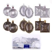 Zink-Legierung Cabochon Weissgold, Zinklegierung, plattiert, verschiedene Verpackungs Art für Wahl, keine, frei von Nickel, Blei & Kadmium, verkauft von setzen