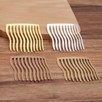 Dekoratives Haarkämmchen, Messing, plattiert, DIY, keine, frei von Nickel, Blei & Kadmium, 40x38x1mm, 50PCs/Tasche, verkauft von Tasche