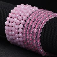 Natürliche Rosenquarz Perlen, rund, poliert, DIY & verschiedene Größen vorhanden, keine, verkauft per ca. 15.7 ZollInch Strang