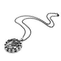 Titanstahl Halskette, schwarz, 52.50x42mm, Länge:550 Millimeter, 4SträngeStrang/Menge, verkauft von Menge