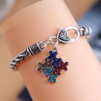 Mode Armband, Legierung, für Frau & mit Strass, Silberfarbe, frei von Nickel, Blei & Kadmium, 25mm, Länge:7.86 ZollInch, verkauft von PC