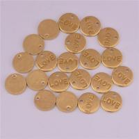 Messing Schmuck Anhänger, flache Runde, DIY, originale Farbe, frei von Nickel, Blei & Kadmium, 8.50x1.20mm, 500PCs/Tasche, verkauft von Tasche