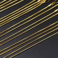 Zinklegierung Kette Halskette, mit Verlängerungskettchen von 2inch, plattiert, unisex & Schlangekette, keine, frei von Nickel, Blei & Kadmium, 1.20mm, Länge:ca. 15.7 ZollInch, 12SträngeStrang/Tasche, verkauft von Tasche